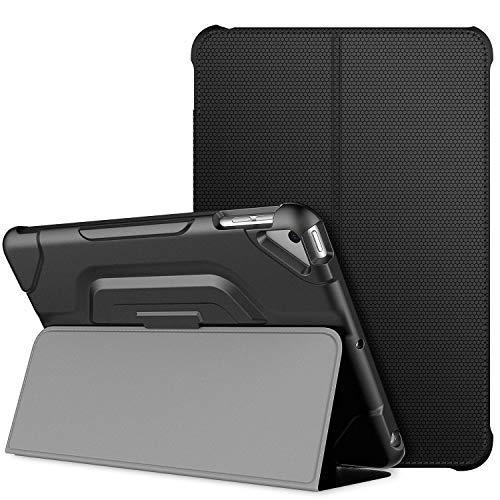JETech Hülle für iPad Mini 5 & iPad Mini 4 (2019/2015 Modell, 5./4. Generation), Doppelfalzständer mit stoßsicherer TPU Rückseite, Auto Schlafen/Wachen, Schwarz