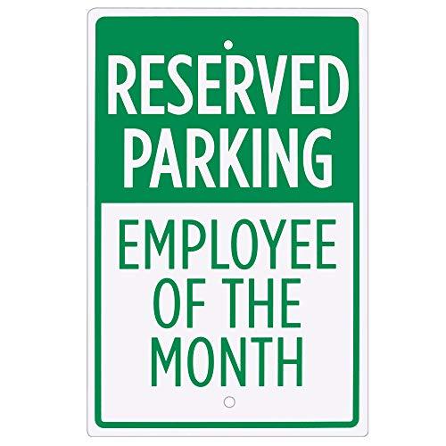 Segnale di parcheggio riservato–dipendente del mese–45,7x 30,5cm preforata aluminum Sign per parcheggi, private vialetti, aziende di Bolthead industriale