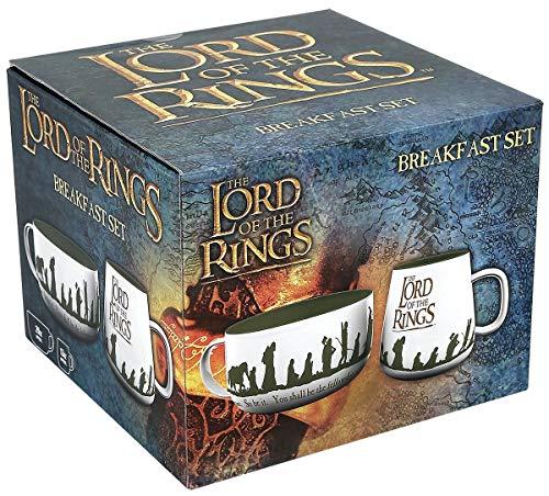 Der Herr der Ringe Lord of The Rings Fellowship Breakfast Set, Multi-Coloured, BS0028