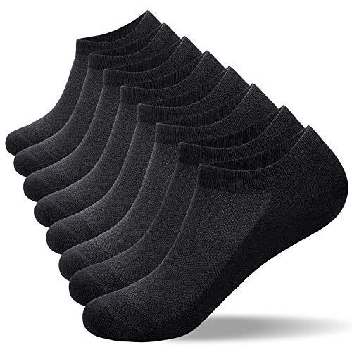 coskefy Sneaker Socken Herren-Laufsocken Damen aus Baumwolle 8 Paar Unsichtbare (Größe 35-40) Kurz Rutschfest Lässig Atmungsaktiv Weich Sportsocken für Wandern Business Hiking Reit Radfahren Tennis