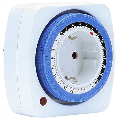 Ultratec 33140000265 Timer Meccanico 24 Ore, Bianco/Blu, S