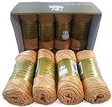 ▷ Pack de 8 Zepelines Ne 5/2 color MARRÓN 24 de algodón perlé 100% egipcio mercerizado para...