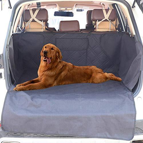 Camas Perro Impermeable Negro Puerta Mascotas para Mascotas y Niños con Cinturón de Seguridad para Mascotas y Bolsa de Almacenamiento, Impermeable, Lavable, Antideslizante, Se Adapta a Todos Los Vehí