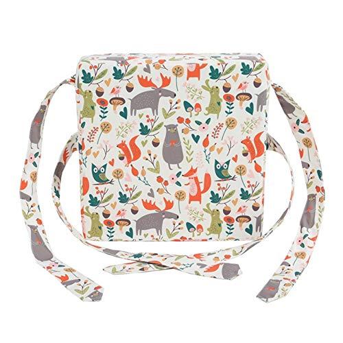 Silla de comedor infantil con cojines para estudiantes y bebés con lonas ajustables (color: A)