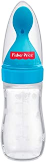 Fisher-Price Squeezy Silicone Food Feeder, Blue, 125ml