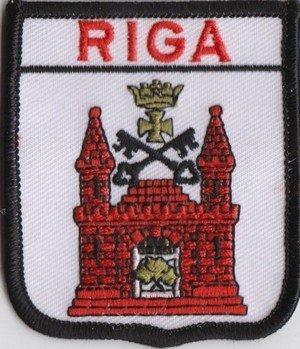 Riga Lettland Flagge aufgestickt Patch Abzeichen