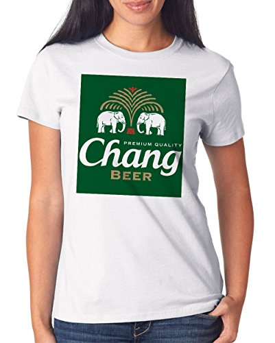 Chang Beer T-Shirt Girls White-L