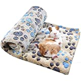 Spring Fever Hamster Guinea Pig Rabbit Dog Cat Chinchilla Hedgehog Small Animal Soft Warm Pet Fleece Blanket Cover Mat Hideout Cage Accessorie Coffee S