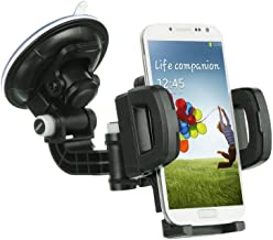 ZTE Obsidian Case, Customerfirst Heavy Duty Universal Car Mount Mobile Phone Holder Touch Windshield Dashboard Car Mount Holder(Car Mount)
