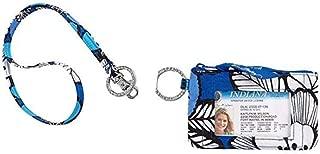 Vera Bradley Zip Id Case and Lanyard Badge Holders (Blue Bayou)