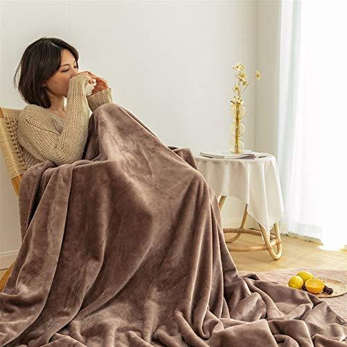 LJHSS Flanell Fleecedecke Kuscheldecke Heimdecke, extra Dicke warm Sofadecke/Couchdecke in zweiseitig, super flausch Fleecedecke Für Bett Sofa Schlafzimmer - Pflegeleicht - Warm, Langlebig
