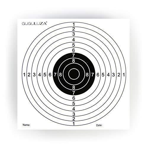 GUGULUZA Packung mit 100 Zielscheiben 14x14cm für Luftgewehr Luftpistole Airsoft