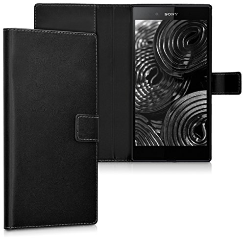 kwmobile Custodia Compatibile con Sony Xperia Z Ultra Custodia Portafoglio - Cover a Libro in Simil Pelle - Flip Case con Porta Carte