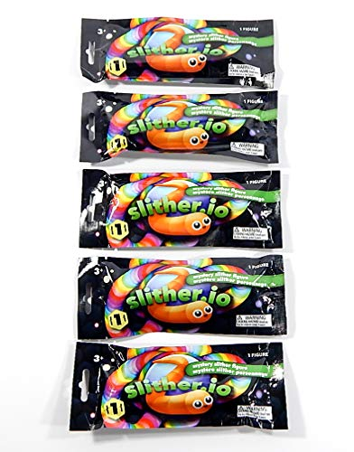 Slither.io Sealed Series 1 Mystery Blind Bag Worm Figures Slither io (5 Packs)
