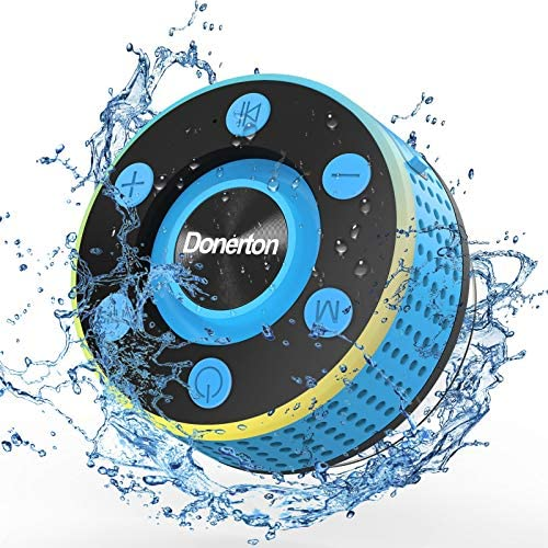 Donerton Bluetooth Shower Speaker IP7 Waterproof Wireless Speakers with HD Sound Stereo Portable product image
