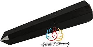 Spiritual Elementz Reiki Charged Chakra Healing Black Tower 8 Faceted (Height: 11-14 cm) Gemstone/EMF Protection Meditatio...