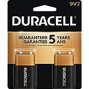 Duracell Coppertop 9V Alkaline Batteries, 2 Count