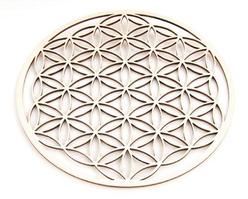Berk EN-073 - Accessori da Meditazione - Fiore della Vita in Legno, 22 cm
