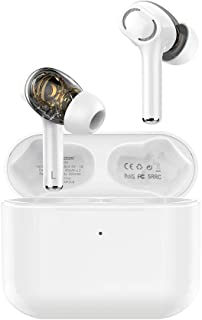 Langsdom Audífonos Bluetooth Inalámbricos Gt4 Auriculares Bass In-Ear Manos Libres con Micrófono Dual Drivers Baja Latencia (Blanco)