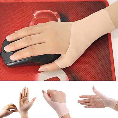 Sharplace 1 Paar Daumenbandage, Daumenstütze, Handbandage, Daumenschutz, aus weich Silikon Gel, Hautfarbe