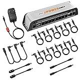 Donner Alimentatore per Pedali Chitarra 9V, 10 Uscita DC isolata con Porta USB per Pedale Effetto 9V/12V/18V Ingresso DC 18v 2000m (DP-Z)