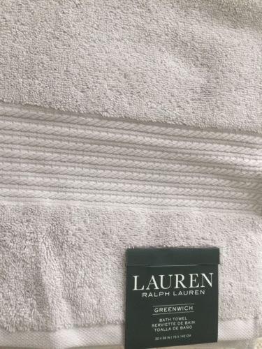 Lauren Ralph Lauren Greenwich Bath Towel Spa Grey (Light Grey)