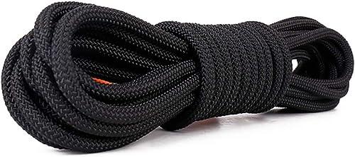 LXYFMS Corde d'escalade Corde Statique diamètre 8 10 mm Longueur 10 20 30 40 50 60 80   100m Noir Blanc Corde d'alpinisme (Couleur   B, Taille   8MM 50M)