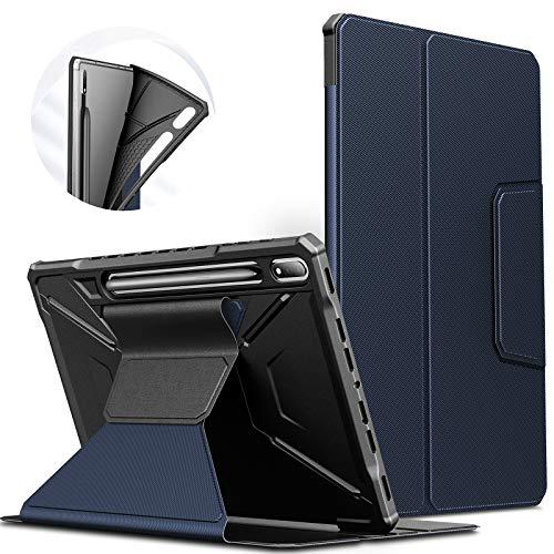 INFILAND Custodia per Samsung Galaxy Tab S7+/S7 Plus 2020, Supporto Anteriore TPU Custodia Cover per Samsung Galaxy Tab S7 Plus 12.4 (T970/T975/T976) 2020, Automatica Svegliati/Sonno,Marina Militare