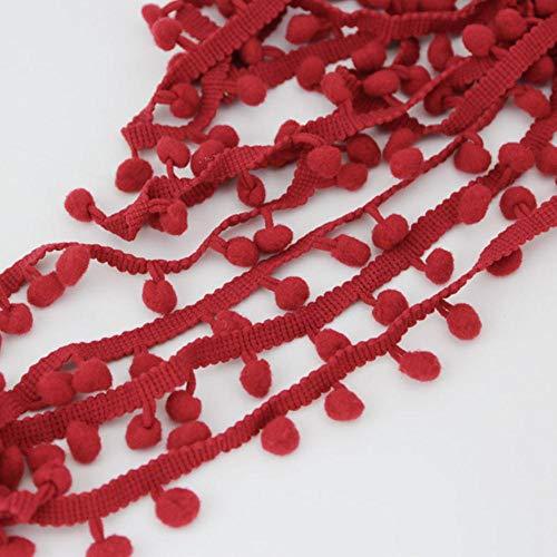 (10 meter/stuk) 10 mm katoenen bal kanten kledingstuk trimmen DIY naaien handgemaakte ambachtelijke materialen, rood