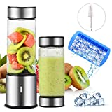 Smoothie Blender Standmixer, TTLIFE Tragbar Mixer 450ml 2 Deckel USB Rechargable 5100mAh Blender...