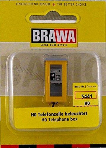 H0 - Telefonzelle beleuchtet