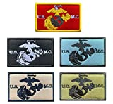 Antrix 5 Pieces Tactical United States Marine Corps UCMC Patch Hook and Loop U.S. Army Marine Corps The Third Air Force Military Badge Patch for Caps,Backpacks,Clothes,Vest