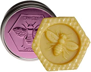 Lavender Bee Bar Skin Care Moisturizing Solid Lotion Bar, Made in USA, .6 Oz