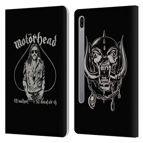 Head Case Designs Ufficiale Motorhead Ace of Spades Lemmy Grafiche Cover in Pelle a Portafoglio Compatibile con Samsung Galaxy Tab S6 (2019)