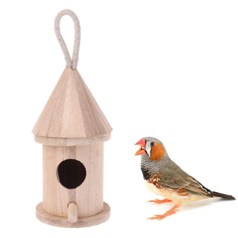 Tlwrnop Casas para Pájaros Nidos para Pájaros Caja De Nido De Madera Natural para Pájaros, Caja Nido para Jardín Al Aire Libre, Jaula para Pájaros: Amazon.es: Jardín