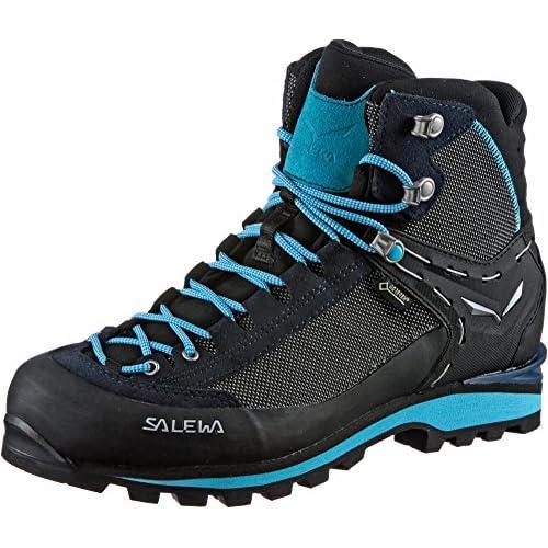 SALEWA WS Crow Gore-Tex, Stivali da Escursionismo Alti Donna, Blu (Premium Navy/Ethernal Blue 3985), 36 EU