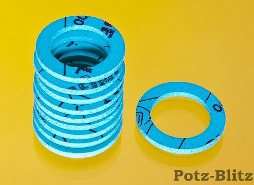 Flachdichtung für Solarrohr / Edelstahl Wellrohr (10 Stck.) DN20 - 1