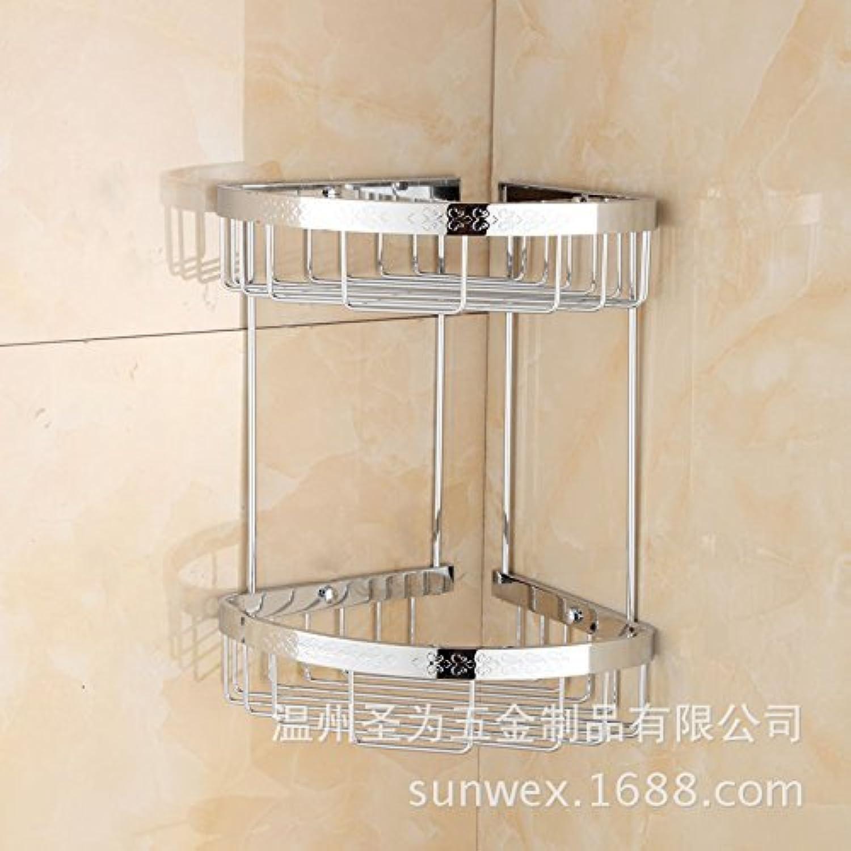 European high-grade carved bathroom basket wall-hung bathroom basket triangle corner shelves