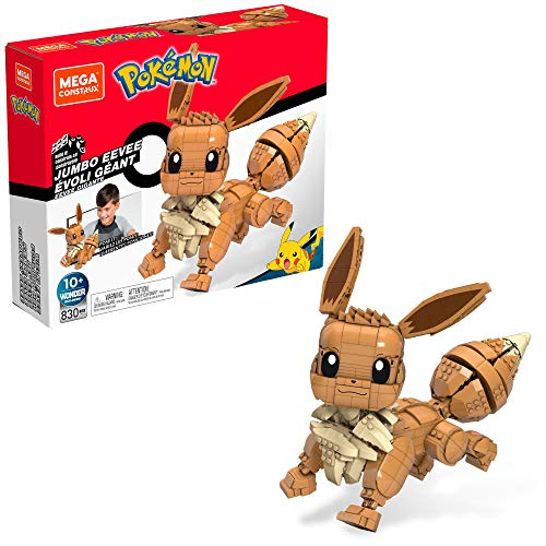 Mega Construx Pokemon Jumbo Eevee Figure Building Set with Battle Action
