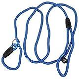 Collar Perros Para 1Pc Negro / Azul / Rojo Mascotas Cachorros Perros Arnés Flexible Cuerda De Nylon Correa De Entrenamiento Collar De Plomo Para Caminar Suave Uso Al Aire Libre Pc671017, Azul, 6 Mm