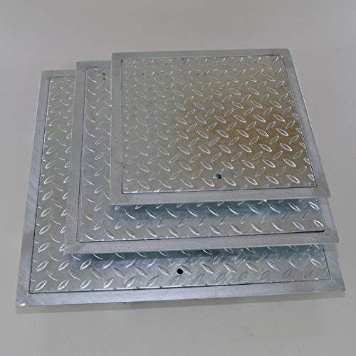 Preisvergleich Produktbild Stahl Schachtabdeckung verzinkt mit Rahmen Größen 30x30,  40x40,  50x50,  60x60 cm (60x60cm)