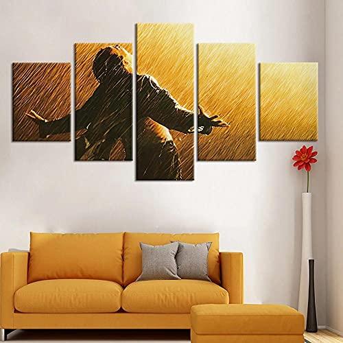 BHJIO 5 Piezas Cuadros Modernos Impresión De Imagen Artística Digitalizada Lienzo Decorativo para Tu Salón O Dormitorio Cadena Perpetua Regalo 150 X 80 Cm.