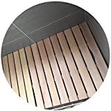 JIAJUAN Natürlich Badmatte Holz Quadrat Bad Matte rutschfest Lattenrost Design Mehrzweck Badezimmer Sauna Dusche Pedal Matten -Helle Farbe (Color : A, Size : 60x100cm)
