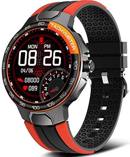 Reloj Inteligente Pulsera Inteligente Fitness Tracker Hombres Reloj Despertador Inteligente Esfera Personalizada IP68 Impermeable Smartwatch Mujeres Reloj Deportivo Inteligente Azul-Naranja