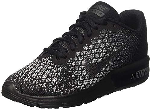 NIKE Women's Air Max Sequent 2 Running Shoe Black Size 6.5 M US