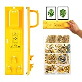 Picture Hanging Kit, Picture Frame Hanger Tool, 220 Pieces Heavy Duty Photo Hanger Accessories with Multifunction Picture Frame Level Ruler Bubble Level Measuring Tool for Marking Position