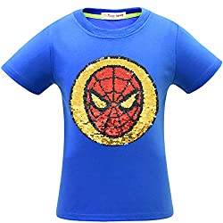 1syzul Superhero Flash Flip Sequin T-Shirt