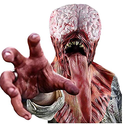 SSeir Bloody Tongue Monster Masker Zombie Latex Full Face Masker voor Halloween Kostuum Decoratie
