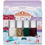 Essie new limited edition holiday 4 piece mini gift set, featuring nail color best sellers - off tropic, wicked, summit of style and blanc, best sellers, 1 kit