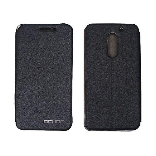Guran? PU Leder Tasche Etui für UMI Super Smartphone Flip Cover Stand Hülle Case-schwarz